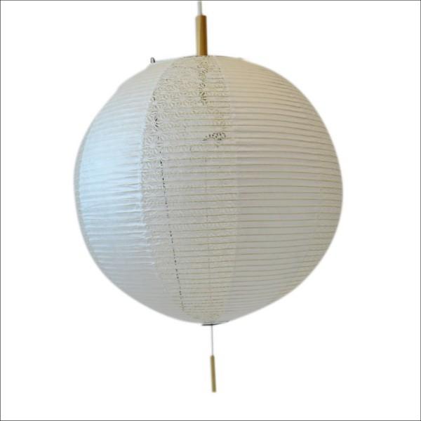 【送料無料】 和風デザイン照明 丸型ペンダントライト 2枚の和紙を交互に張る技法