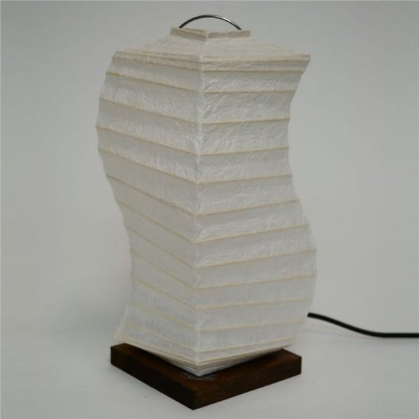 【送料無料】 和風デザイン 楮和紙のシェード ひねり角型スタンドライト 白