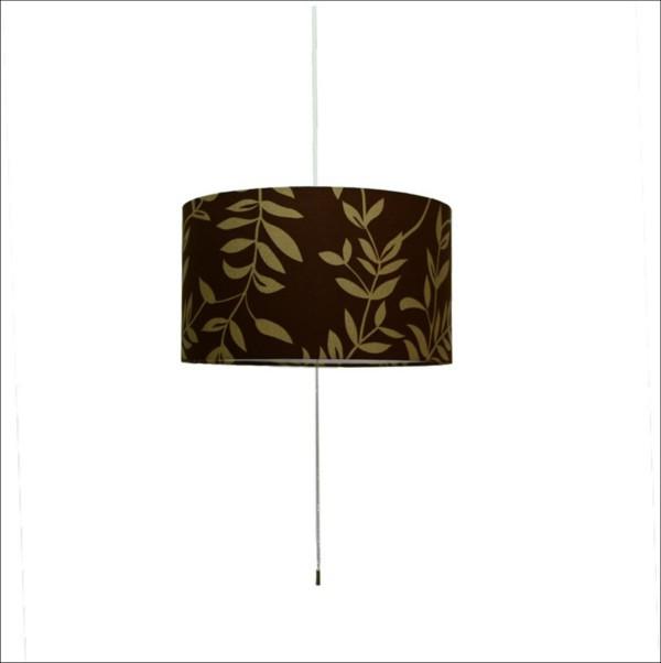 【送料無料】 和風デザイン照明 円筒型ペンダントライト 北欧インテリアにも最適 ブラウン