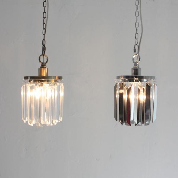 【送料無料】アンティークなデザイン照明 クリスタルガラスシェードのペンダントライト