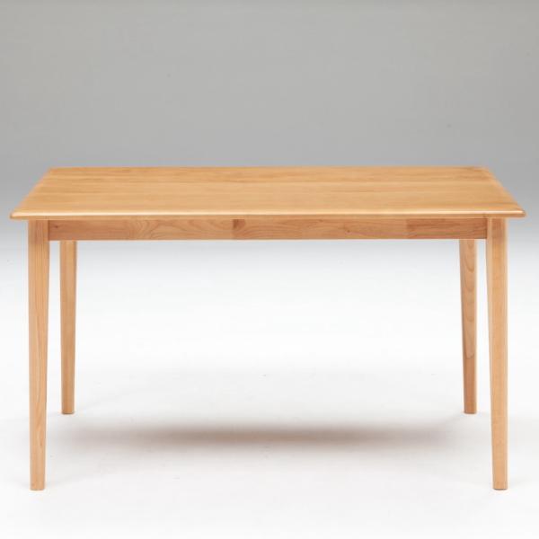 【送料無料】ナチュラルインテリアに最適 アルダー無垢材を使用したダイニングテーブル 幅125