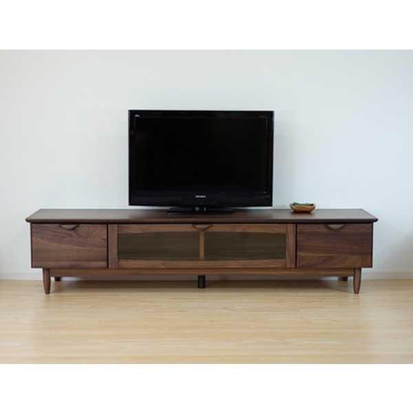 【送料無料】 ウォールナット無垢材を使用したテレビ台 北欧インテリアに最適 幅180cm
