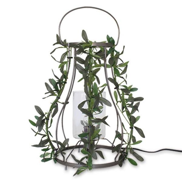 【送料無料】観葉植物としても使えるナチュラルデザインのテーブルライト