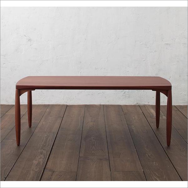 【送料無料】 天然木無垢テーブル おしゃれなレトロイメージのセンターテーブル