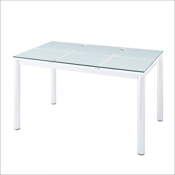 【送料無料】 モダンなガラス天板の4人用 ダイニングテーブル 幅130cm
