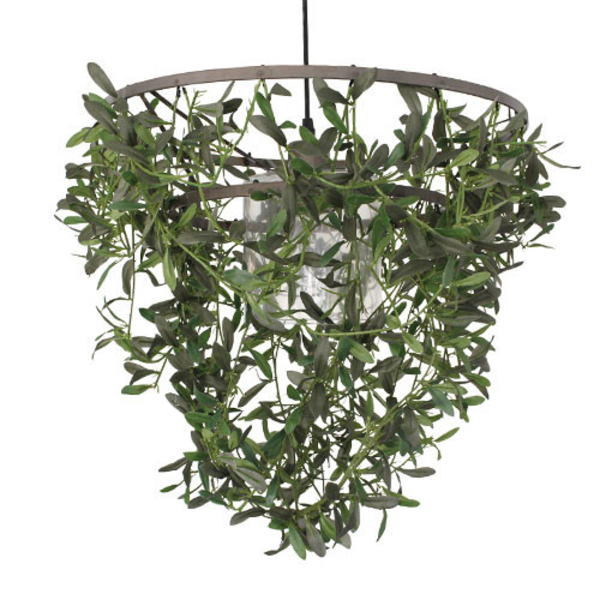 【送料無料】オリーブの観葉植物をシェードにしたナチュラルデザイン ペンダントライト