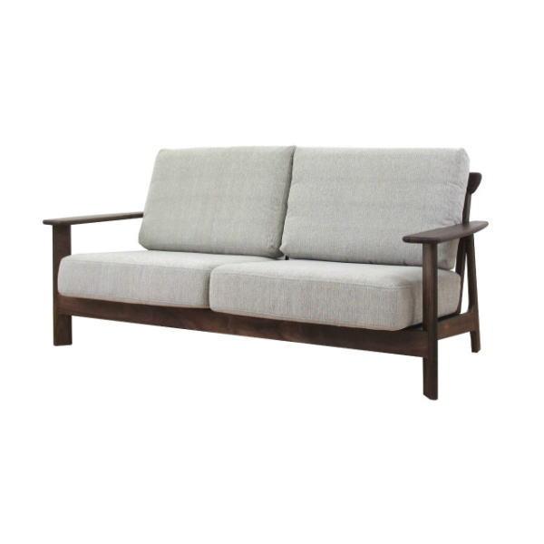 【送料無料】マンションのリビング最適 ウォールナット無垢材を使用した2.5人掛けソファ