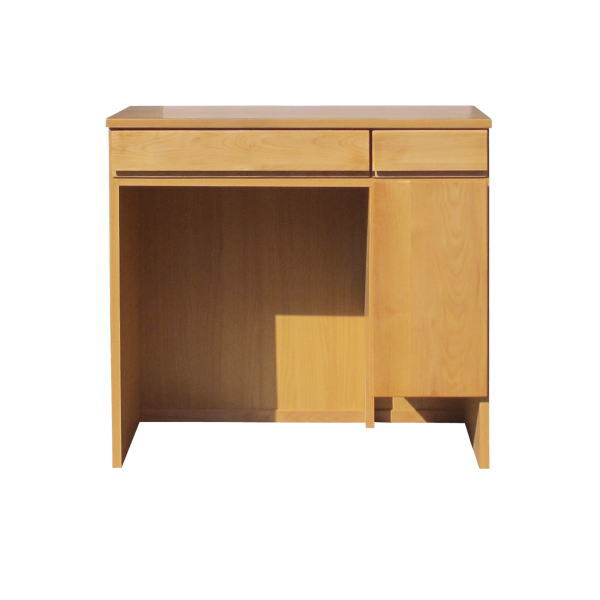 【送料無料】アルダー無垢材を使用したナチュラルなデザインの寝室に最適なデスク 幅80