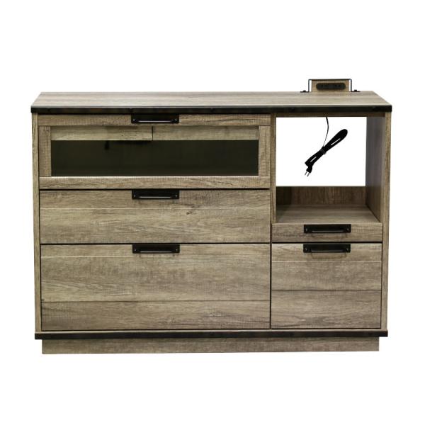 【送料無料】インダストリアルデザイン 古材とスチールの組み合わせがかっこいい収納家具 キッチンカウンター 幅120