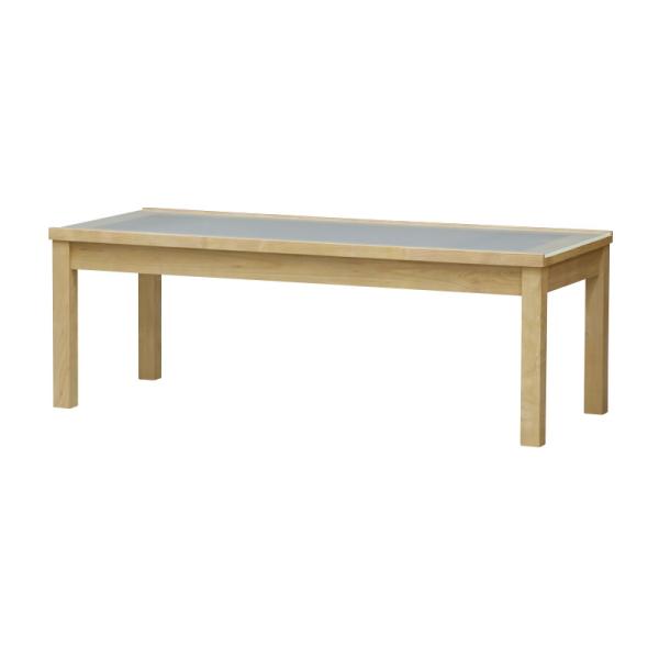 【送料無料】 シンプルなデザインのガラス天板のリビングテーブル 幅110
