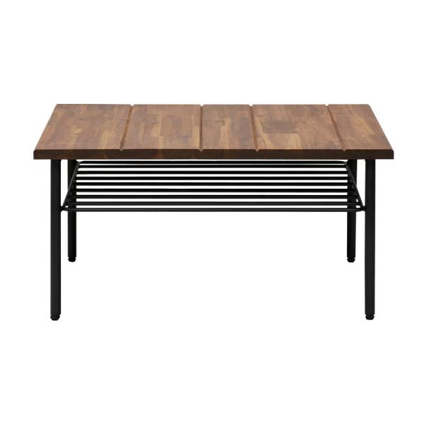 【送料無料】 カフェ風デザインでかっこいい スチール製のリビングテーブル 幅70cm