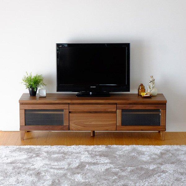 【送料無料】レトロなクロスガラスがアンティークなテレビ台 幅150