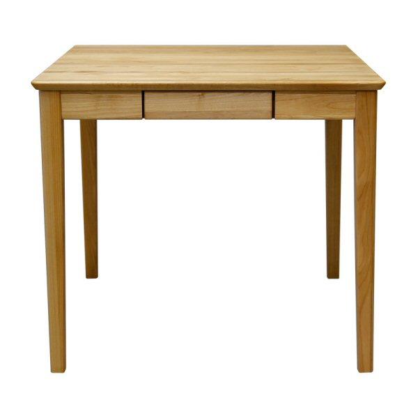 【送料無料】北欧系ダイニングテーブル 幅80cmアルダー無垢 引き出し付属