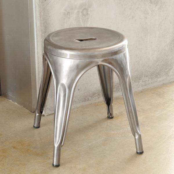 スチール製のスツール(椅子) カフェスタイル クリア