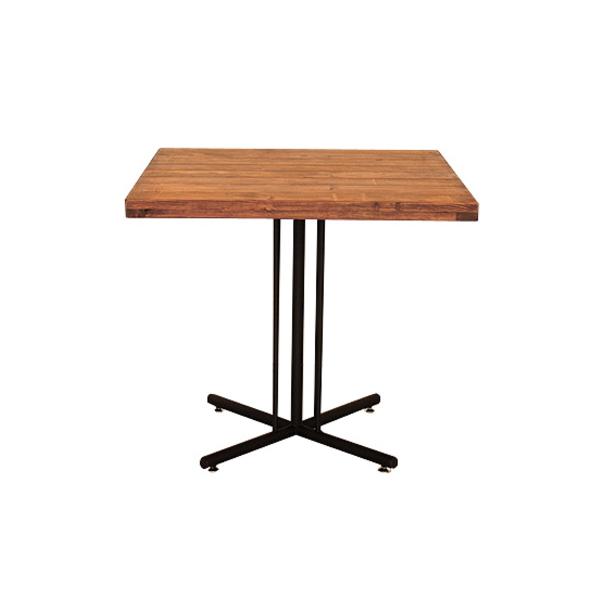 【送料無料】カフェ風ダイニングテーブル 2人用 スチールと木のヴィンテージなデザイン 幅72