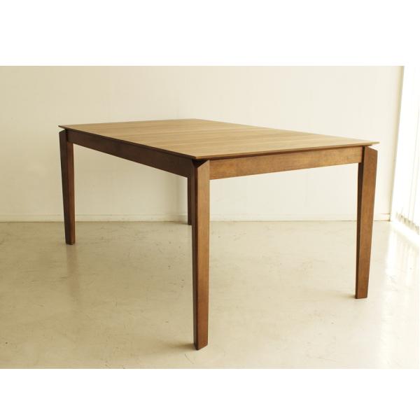【送料無料】カフェ風伸長式ダイニングテーブル ウォールナットのブラウン 幅150