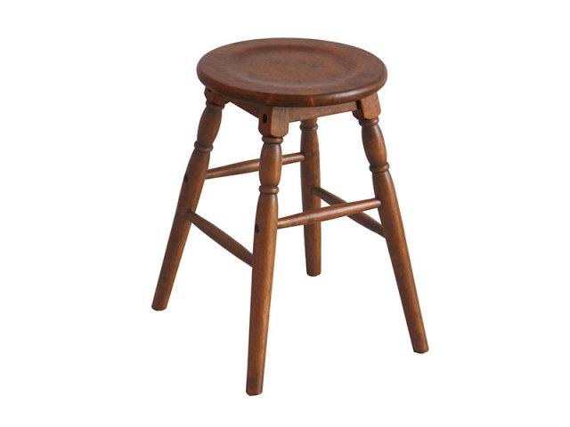 【送料無料】 サイドテーブルとしても使えるカントリー調のかわいいロースツール