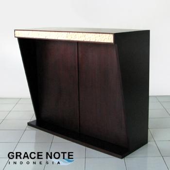 【送料無料】 アジアン家具 ライムストーン の彫刻が涼しげ おしゃれな カウンター