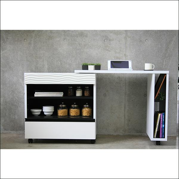 【送料無料】ホワイトカラーでモダンなデザインのキッチンデスク
