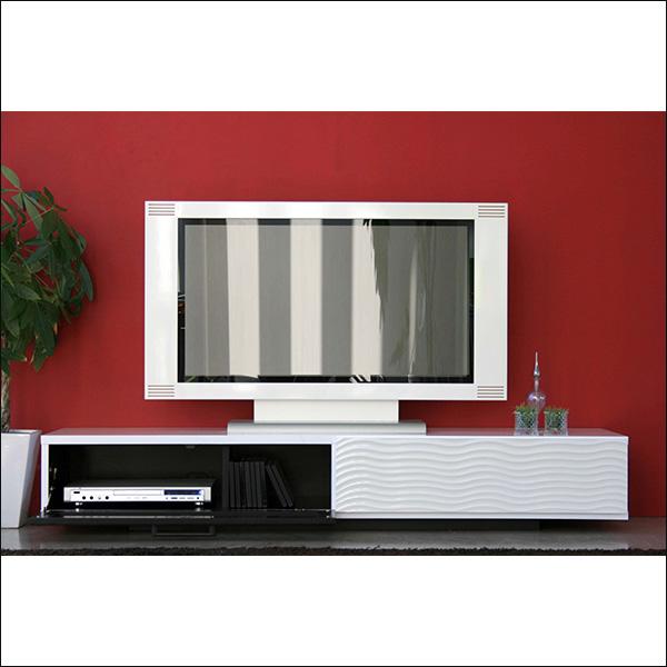 【送料無料】完成品 モダンなデザインのテレビ台 170 ホワイト