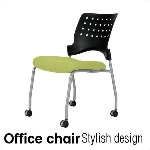 【送料無料】カラフル オフィスチェア  ( 会議室 チェア ) シート背もたれカバー交換可能タイプ coo0122