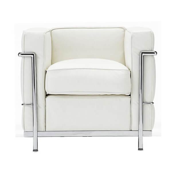【送料無料】 コルビジェ ソファ(Le Corbusier)【LC2】 リプロダクトデザイナーズ家具 1人掛け ホワイト