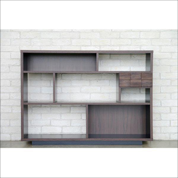 【送料無料】 完成品なので安心 モダンなデザインの棚シェルフ