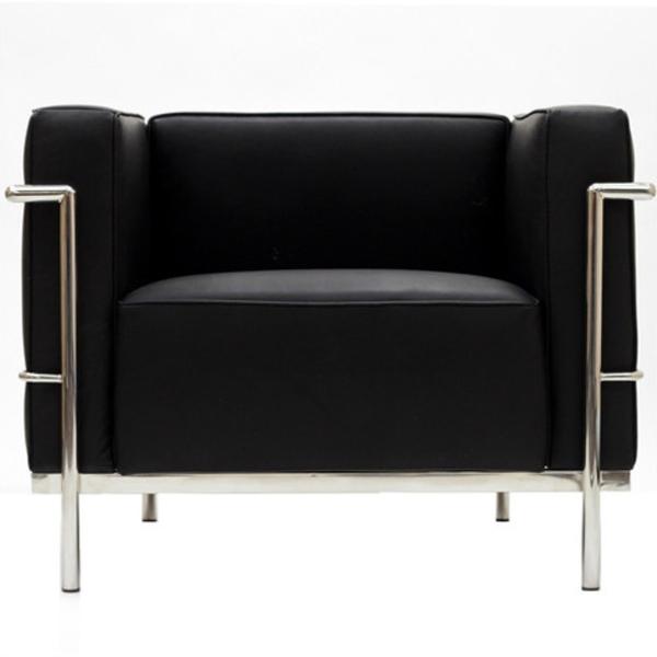 【送料無料】 コルビジェ ソファ (Le Corbusier)【LC3】 リプロダクトデザイナーズ家具 1人掛け ブラック