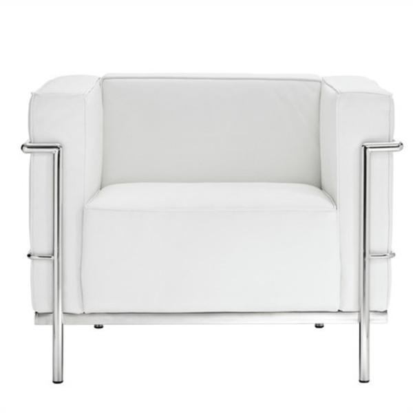 【送料無料】 コルビジェ ソファ (Le Corbusier)【LC3】 リプロダクトデザイナーズ家具 1人掛け ホワイト
