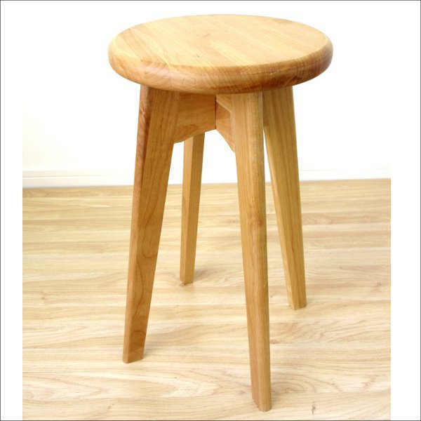 【送料無料】 ナチュラルなデザイン 無垢のサイドテーブル (スツールとしても使用可能)