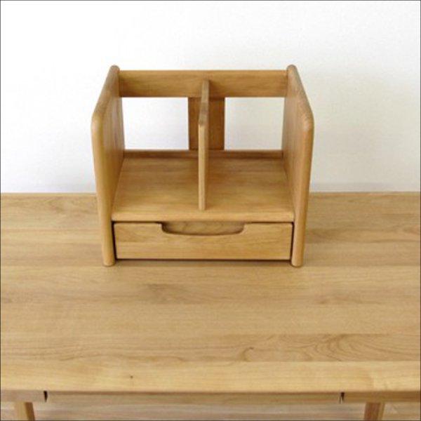 【送料無料】 北欧系 ナチュラルなデザイン 無垢材ブックスタンド 35cm (ナチュラル)