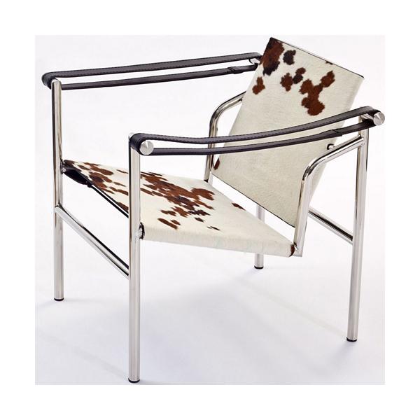 ル・コルビジェ バスキュラントチェア LC1 ポニースキン(デザイナーズ家具)