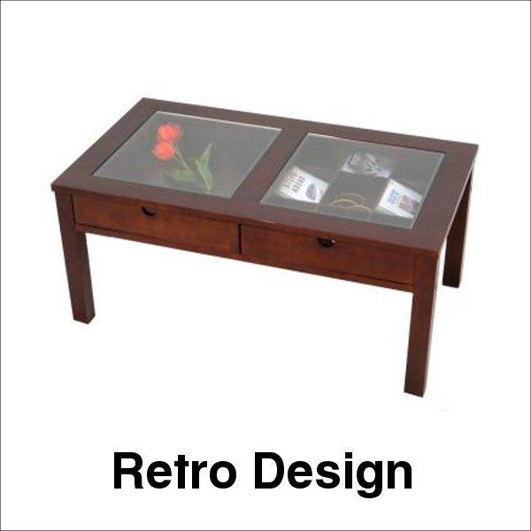 【送料無料】人気の定番商品 コレクションテーブル ブラウン