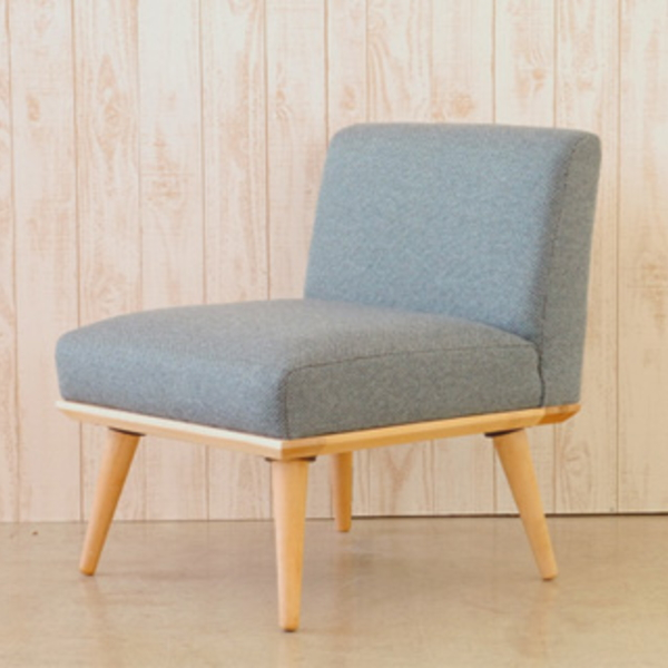 【送料無料】 10畳リビングでもOK 北欧風デザイン おしゃれなダイニングソファ1人掛け ブルーとブラウン