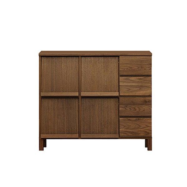 【送料無料】 高級家具 北欧デザインのマガジンラック ウォールナットのリビング収納 幅105