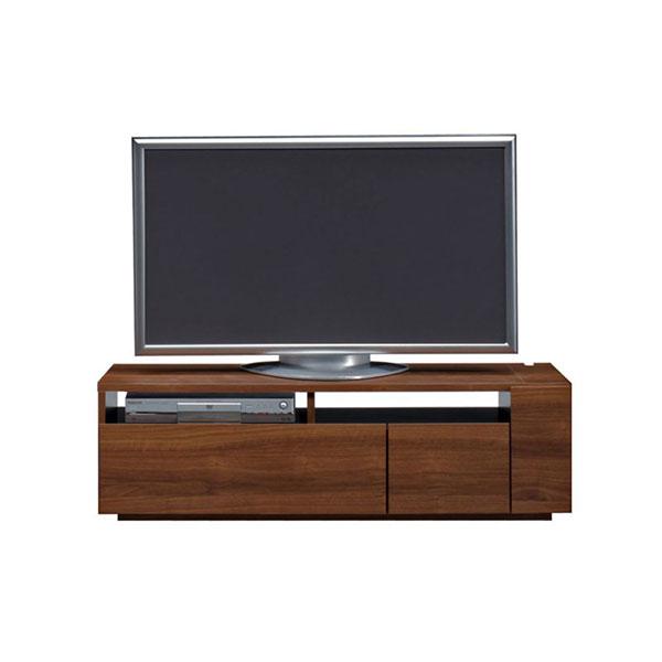 【送料無料】 高級家具 モダンなデザインのローボード テレビ台 幅120 ウォールナット 日本製