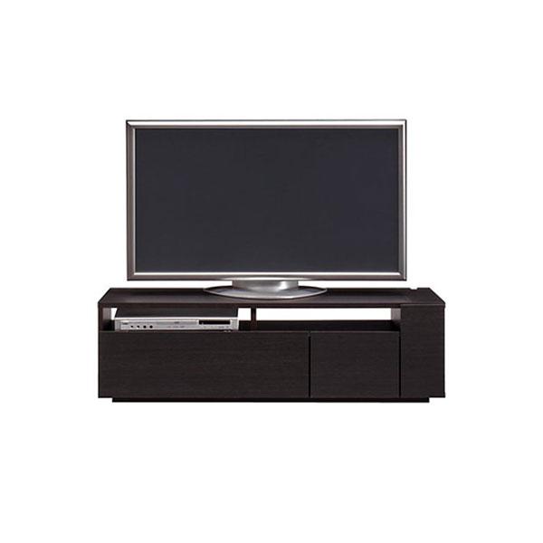 【送料無料】 高級家具 モダンなデザインのローボード テレビ台 幅120 ダークブラウン 日本製