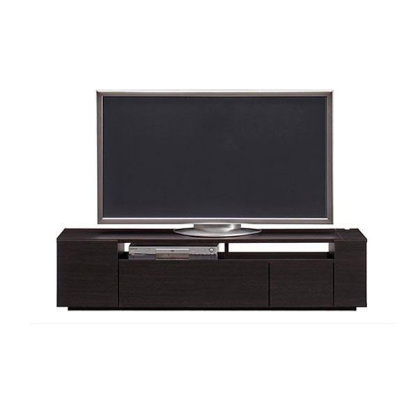 【送料無料】 高級家具 モダンなデザインのローボード テレビ台 幅150 ダークブラウン 日本製