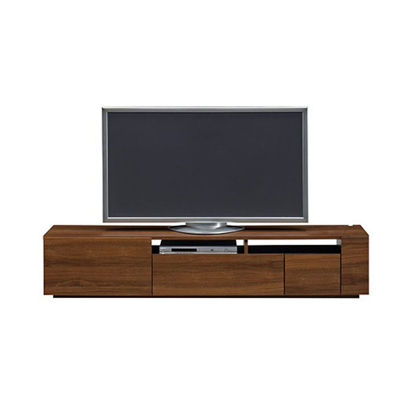 【送料無料】 高級家具 モダンなデザインのローボード テレビ台 幅180 ウォールナット 日本製