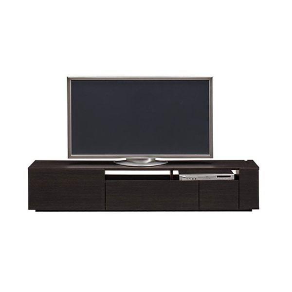 【送料無料】 高級家具 モダンなデザインのローボード テレビ台 幅180 ダークブラウン 日本製