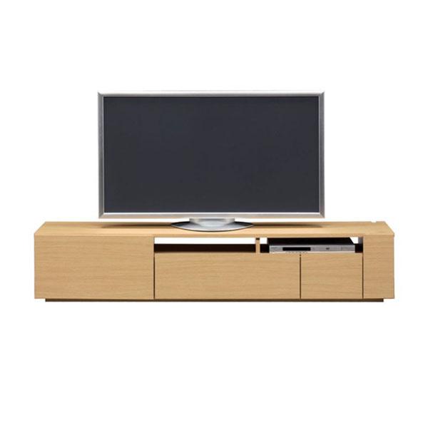 【送料無料】 高級家具 モダンなデザインのローボード テレビ台 幅180 ナチュラル 日本製 10畳以上のリビング活躍