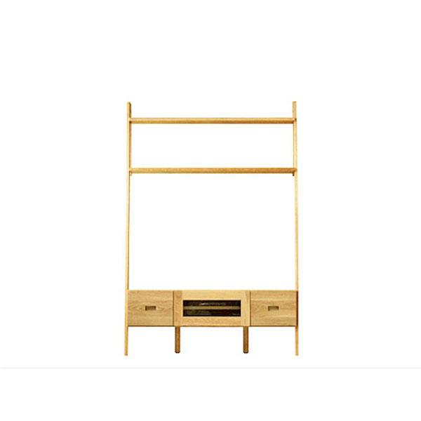 【送料無料】 高級家具 北欧デザイン 無垢 テレビ台 幅118 日本製