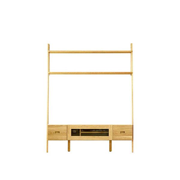 【送料無料】 高級家具 北欧デザイン 無垢 テレビ台 幅138 日本製