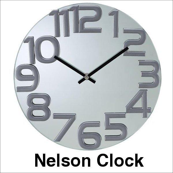 デザイナーズ 掛け時計 ネルソン ミラークロック