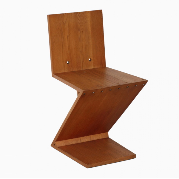 ヘーリット・トーマス・リートフェルト ジグザグチェア(デザイナーズ家具)