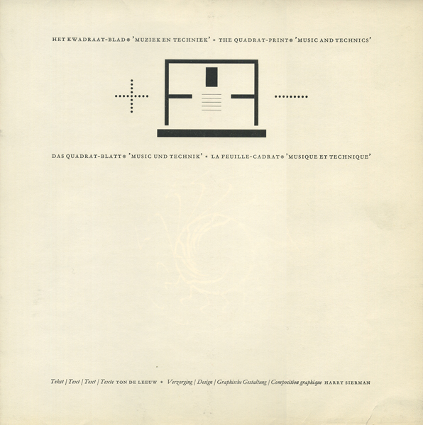 Quadrat-Print: music and technics