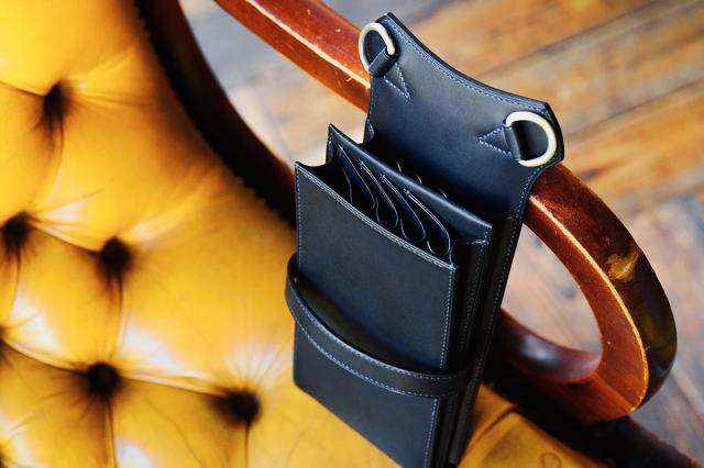 [オーダーメイドギャラリー]シザーケース8丁用トリマー用8.5インチ収納可 T13-8  体に沿うbox型 イタリア革
