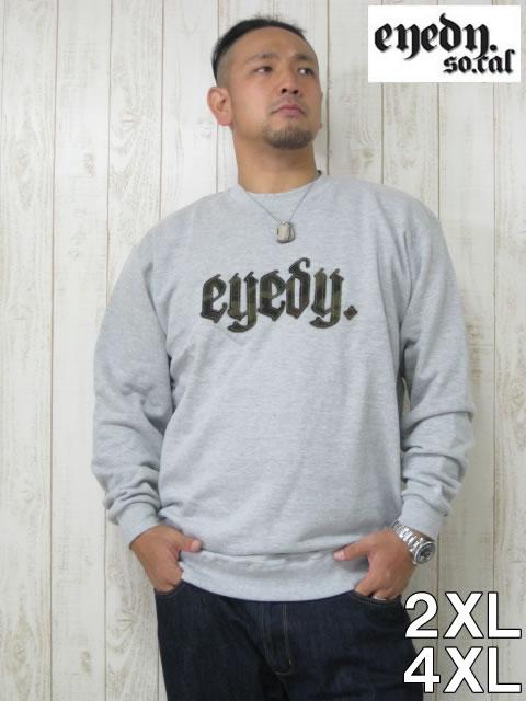 (大きいサイズ)EYEDY(アイディ)「TEAM CAMO」クルーネック スウェットシャツ
