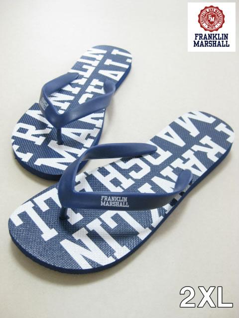 (大きいサイズ メンズ 通販 デビルーズ)FRANKLIN&MARSHALL(フランクリンアンドマーシャル)「FM」ビーチサンダル