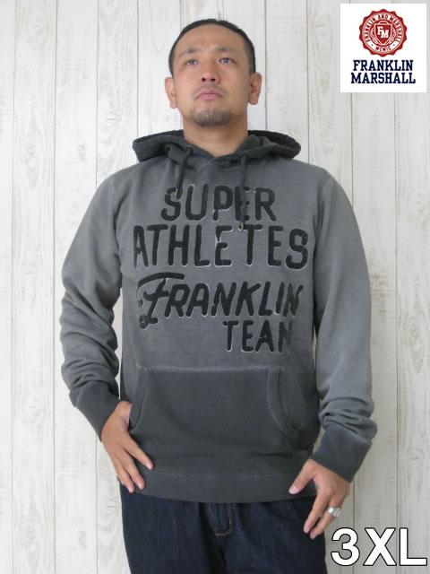 (大きいサイズ メンズ 通販 デビルーズ)FRANKLIN&MARSHALL(フランクリンアンドマーシャル)「SUPER ATHLETES」HOODY